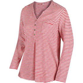 Regatta Franzea - T-shirt manches longues Femme - rouge/blanc